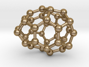 0032 Fullerene c36-04 cs in Polished Gold Steel