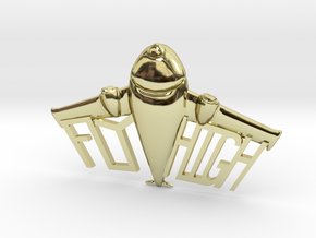 FLYHIGH: Plane Necklace 4inch in 18K Gold Plated