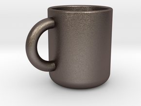 Cup A in Polished Bronzed Silver Steel