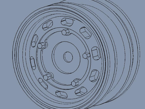 Porsche 356 rims for M-chassis in White Strong & Flexible