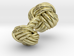 Woven Knot Cufflink in 18K Gold Plated