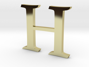 H (letters series) in 18K Gold Plated