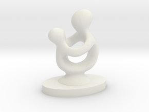 Mother and Child in White Natural Versatile Plastic