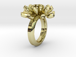 Sea Anemone Ring17.5mm in 18K Gold Plated
