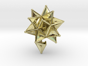 Stellated Icoso Case - 3.6cm in 18K Gold Plated