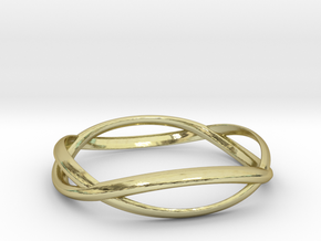 Wave Ring ~ US Size 8  in 18K Gold Plated