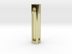 A Tritium Pendant in 18K Gold Plated