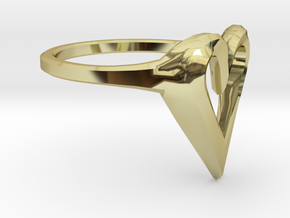 FLYHIGH: Skinny Heart Ring 11mm in 18K Gold Plated