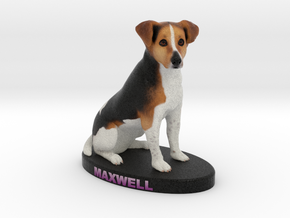 Custom Dog Figurine - Maxwell in Full Color Sandstone