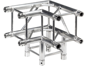 Square truss corner 1:10 in White Natural Versatile Plastic