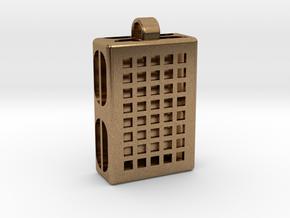 Pixels Hidden Letter [customizable] in Natural Brass