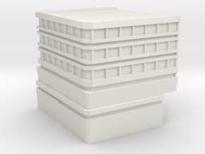 Hospital: Modular Left in White Natural Versatile Plastic