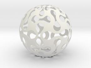 Lighing Sphere in White Natural Versatile Plastic