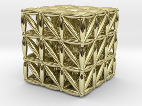"3-D FLOWER OF LIFE ""META-CUBE"" in 18K Gold Plated"