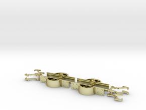 Fallhakenkupplung Feldbahn 0e-GN15 in 18K Gold Plated