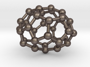0033 Fullerene c36-05 d2 in Polished Bronzed Silver Steel