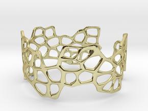 Cells Bracelet (open, 64mm) in 18K Gold Plated