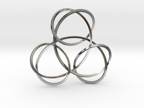 Trinity Knot Pendant in Polished Silver