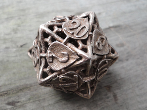 Botanical Die20 (Aspen) in Polished Bronzed Silver Steel
