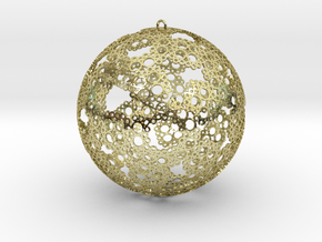 Ornament 80mm in White Natural Versatile Plastic