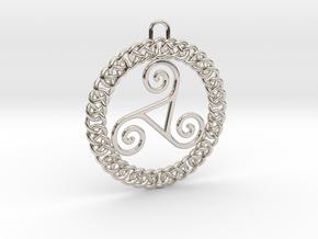 Triskele Pendant in Platinum