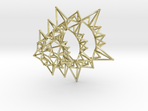 Star Rings 5 Points - 3 pack - 6cm in 18K Gold Plated