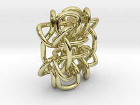 Wings3D Knot in 18K Gold Plated