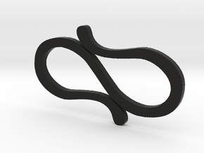 Simple S-Clips  in Black Natural Versatile Plastic