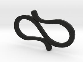 Simple S-Clips  in Black Natural Versatile Plastic
