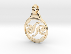 Aeon Tribe Logo Pendant in 14k Gold Plated Brass