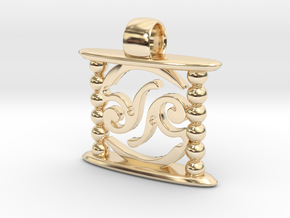 Aeon Tribe Temple Version in 14k Gold Plated Brass