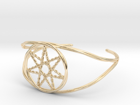 Woven Fairy Star armband/cuff in 14k Gold Plated Brass