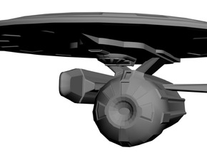 USS Decatur in White Strong & Flexible Polished