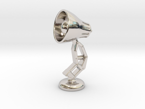 Mini Lamp Cufflink (order 2 for set) in Rhodium Plated Brass