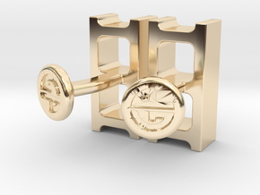 Cinderblock Cufflinks in 14k Gold Plated Brass