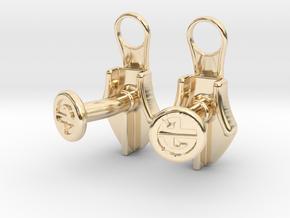 Zipper Cufflinks in 14k Gold Plated Brass