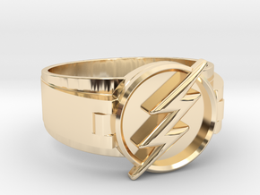 Flash Ring size 11 20.68mm  in 14k Gold Plated Brass