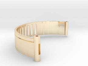 The Island ID Bracelet Bottom Replica Prop in 14k Gold Plated Brass