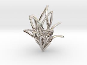 Spiral Flower in Platinum