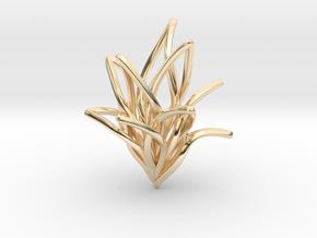 Spiral Flower in 14K Yellow Gold