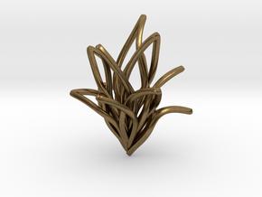 Spiral Flower in Natural Bronze