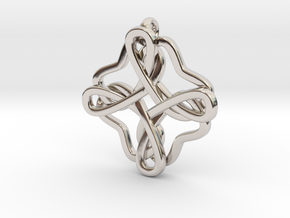 Friendship knot in Rhodium Plated Brass