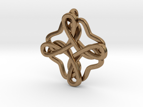Friendship knot in Natural Brass