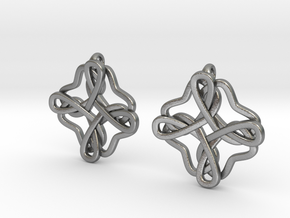 Friendship knot earrings in Natural Silver