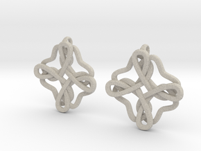 Friendship knot earrings in Sandstone