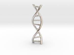 DNA pendant in Rhodium Plated Brass