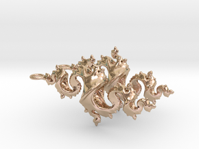 Dragon Earrings 4cm in 14k Rose Gold Plated Brass