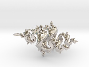 Dragon Earrings 4cm in Rhodium Plated Brass