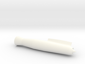 Bomarc (early) Nacelles for BT60 in White Processed Versatile Plastic