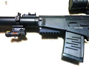 VSS Handguard Picatinny Rail in Black Natural Versatile Plastic